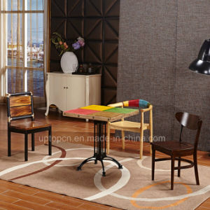 Special Design Cast Iron Leg Restaurant Furniture with Wooden Four Color Desktop (SP-RT550) pictures & photos