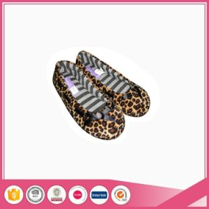 Leopard Plush Women Ballerina Slippers for Indoor Use pictures & photos