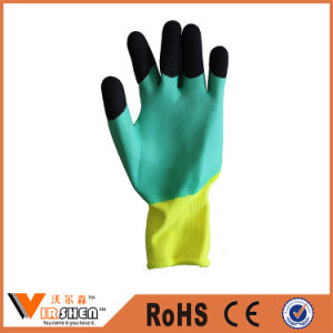 Foam Latex Coated Safety Work Gloves pictures & photos