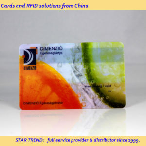 Promotion Card Made of Transparent PVC with Frosted Finish pictures & photos