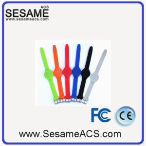 Transparent 13.56 MHz Silica Gel IC Wristband (S-WB2C) pictures & photos