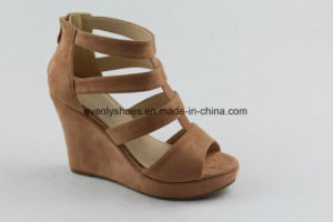 New Arrival High Heel Women Sandal with Wedge Design pictures & photos