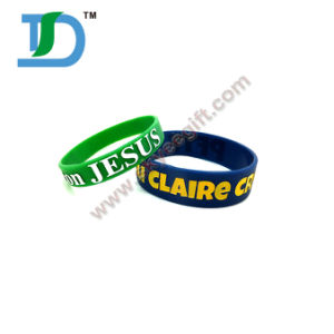 Custom Make Debossed Silicone Wristband pictures & photos