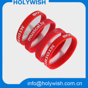 Wholesale Sport Red Wrist Band Silicone Screen Wristband