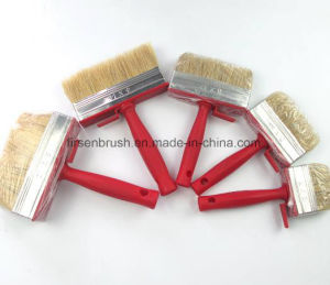 Professional Natural Bristle Red Plastic Handle Paint Brush Cleaning Ceiling Block Brush pictures & photos