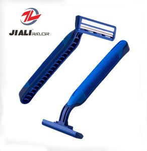 Dual Blade Soft Handle Disposable Stainless Steel Razor pictures & photos