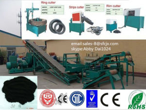 Matching High-Automatic and Output Waste Tires Recycling Line