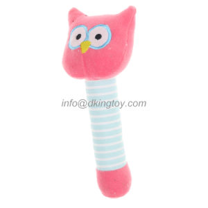 Custom Stuffed Hand Bell Plush Toy Wholesale Manufacturer for Baby pictures & photos