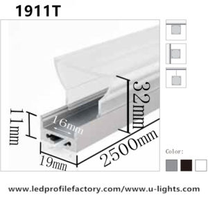 J. 1911 Series LED Aluminum Profile with Different PC Cover for Strip Linear Light pictures & photos