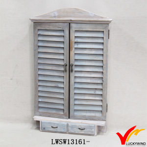 Decorative Farming Decoration Wood Shutter Mirror with Drawers pictures & photos