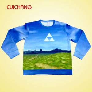 Custom High Quality Fashion Sweatshirts with Leather Sleeves pictures & photos