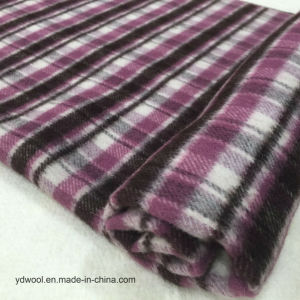 Stock Wool Fabric Different Double Face Check pictures & photos