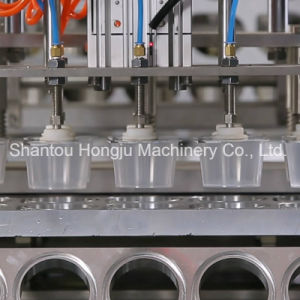 Small Plastic Cup Filling and Sealing Machine for Jelly pictures & photos