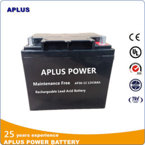 Middle Size VRLA Batteries 12V 38ah with Gas Recombination Design pictures & photos