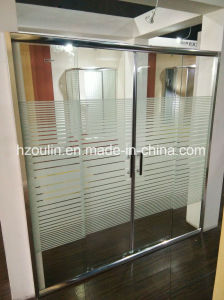 Shower Door with Line Glass pictures & photos