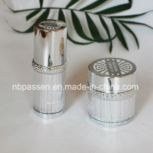 Glossy Silver Acrylic Cream Jar Lotion Bottle with Ring (PPC-NEW-103) pictures & photos