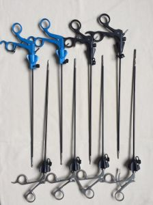 Euprun Laparoscopic Grasping Dissecting Tweezers pictures & photos
