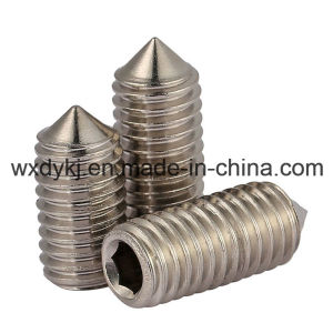 DIN 914 Ss304 A2-70 Hexagon Socket Set Screw with Cone Point pictures & photos