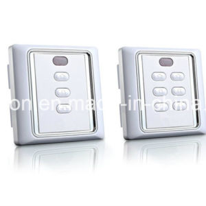 86 Box Remote Control Wall Switch with Remote Control and Manual Function for Rolling Shutters pictures & photos