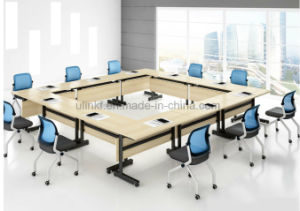 2017 Large Size Aluminum Legs Melamine Top Conference Table (NS-CF013) pictures & photos