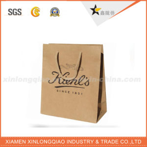 Customized Blue Kraft Paper Bag with a White Star pictures & photos