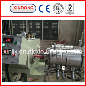 PVC Double Pipe Production Line PVC Twin Pipe Extrusion Machine pictures & photos