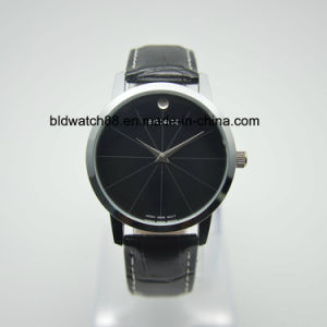 Simple Design Watch Silver Round Stainless Steel Watches for Men pictures & photos