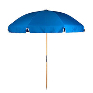 7.5 FT. Steel Commercial Grade Beach Umbrella with Ash Wood Pole