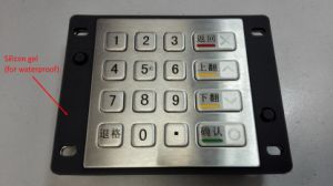 Best Waterproof Metal Encryption Pin Pad (KMY3501C-CC) pictures & photos