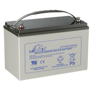 12V 90ah Rechargeable Solar Power Battery with Long Service Life pictures & photos