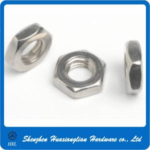 M1.6 M1.8 M2 M2.5 M3 M3.5 M4 M5 M6 Steel Thin Nut with Chamfering pictures & photos