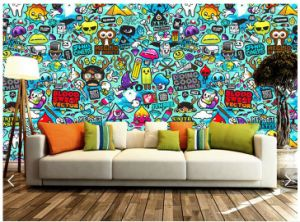 High-Quality Self-Adhesive Custom Wall Murals and Wallpapers Printed pictures & photos