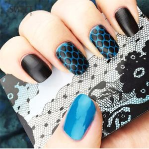 Manufactory Nail Art Hollow Laser Silver Template Stencil Stickers pictures & photos