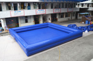 Blue Square Inflatable Swimming Pools for Backyard (CHW445) pictures & photos