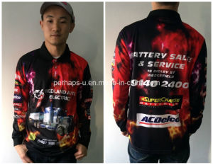 Men Polo Shirt Racing Tops with Long Sleeves pictures & photos