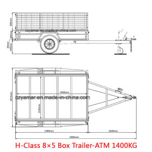 High Quality Checker Plate Box Trailer with Mesh Cage pictures & photos