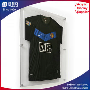 Lockable Large Soccer Jersey Acrylic Frame Panel for T Shirt pictures & photos