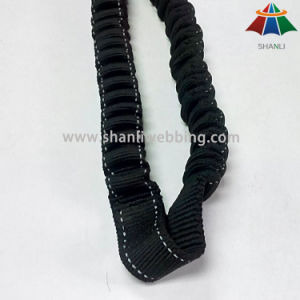 25mm Black Nylon Bungee Webbing for Retractable Pet Leashes pictures & photos