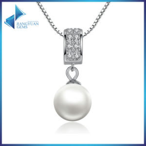 925 Sterling Silver Simulated Pearl Pendant Necklace pictures & photos
