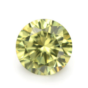 Loose Colored Stone Light Olive Loose CZ Zirconia Stone pictures & photos