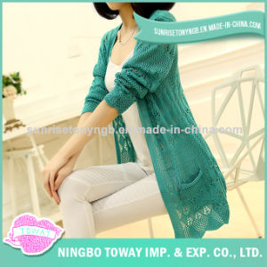 Hand Knitting Soft Cardigan Ladies Cashmere Woman Sweater pictures & photos