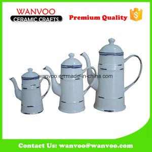 Cheap Simple Glazed 3 PCS Ceramic Pitcher on Wholesale pictures & photos