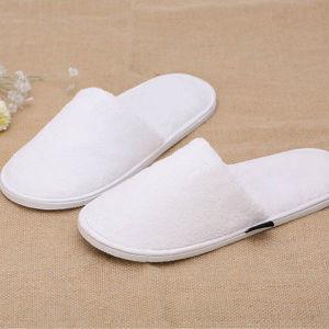 Disposable 3star Hotel Anti-Slip Unisex White Plush Slipper pictures & photos