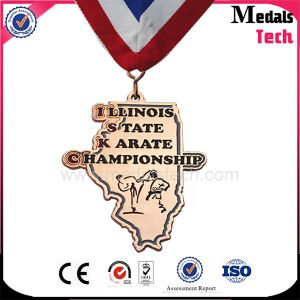 Top Quality County Map Shape Copper Taekwondo Medals pictures & photos