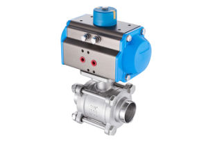 Sanitary Stainless Steel Three-Way Clamp Ball Valve pictures & photos