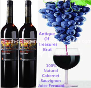 Top Wine,EU Natural Cabernet Sauvignon Wine/Antique of Treasures, Brut,100%Juice Brewing, Rich Anthocyanin,Amino Acids, Anticancer,Prevention of Ischemic Stroke pictures & photos