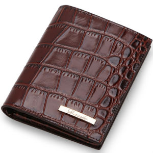Crocodile Leather Men Short Card Wallet pictures & photos