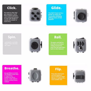 3.3cm Stree Reliever Plastic Finger Fidget Cube Toy pictures & photos