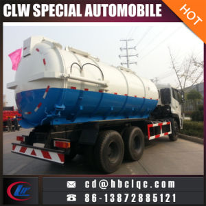 Dongfeng 6X4 16m3 18m3 Sewage Vehicle Vacuum Tank Sewage pictures & photos