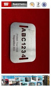 Stainless Steel Name Tag with Laser Engrave pictures & photos